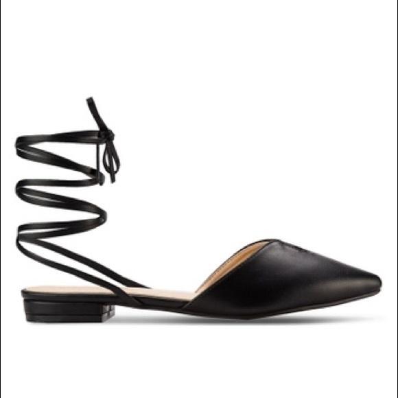 852bee76c5a ZALORA Lace Up Ballerina Black Shoes